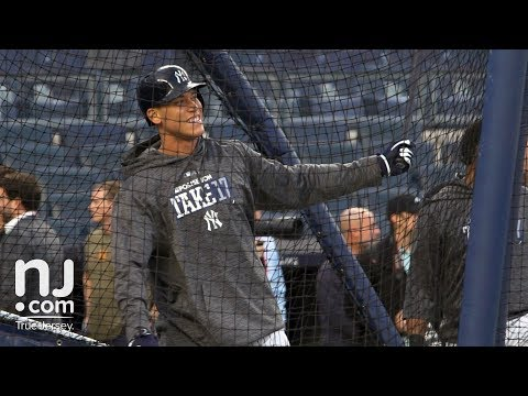 Download Youtube: Aaron Judge slo-mo batting practice before game 3, Yankees vs. Astros ALCS