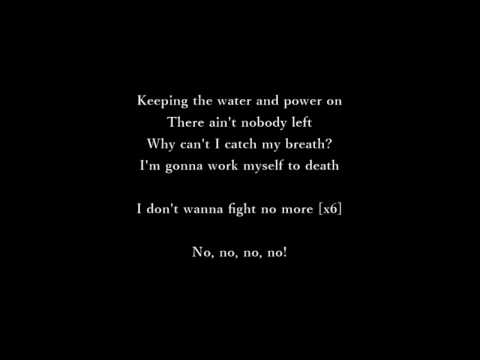 Alabama Shakes - Don't Wanna Fight (lyrics)
