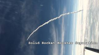 Final Space Shuttle Launch from an Airplane- Awesome HD