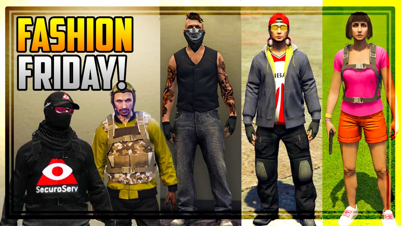 GTA 5 FASHION FRIDAY! 30 NEW OUTFITS! (The Biker Securo Serv Gaurd Dora The Explorer u0026 MORE ...