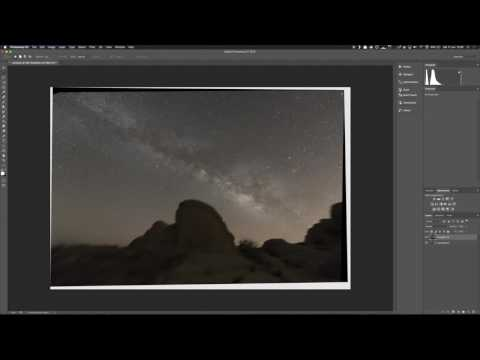 Widefield astrophotography stacking with terrestrial foreground