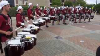 fsu big 8 drumline at college game day clemson vs fsu