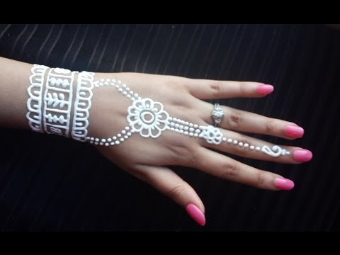 White Henna Design Simple And Easy Mehendi How To Apply White