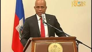 S E M Michel J  Martelly ak Sekretè jeneral ONU Ban Ki Moon