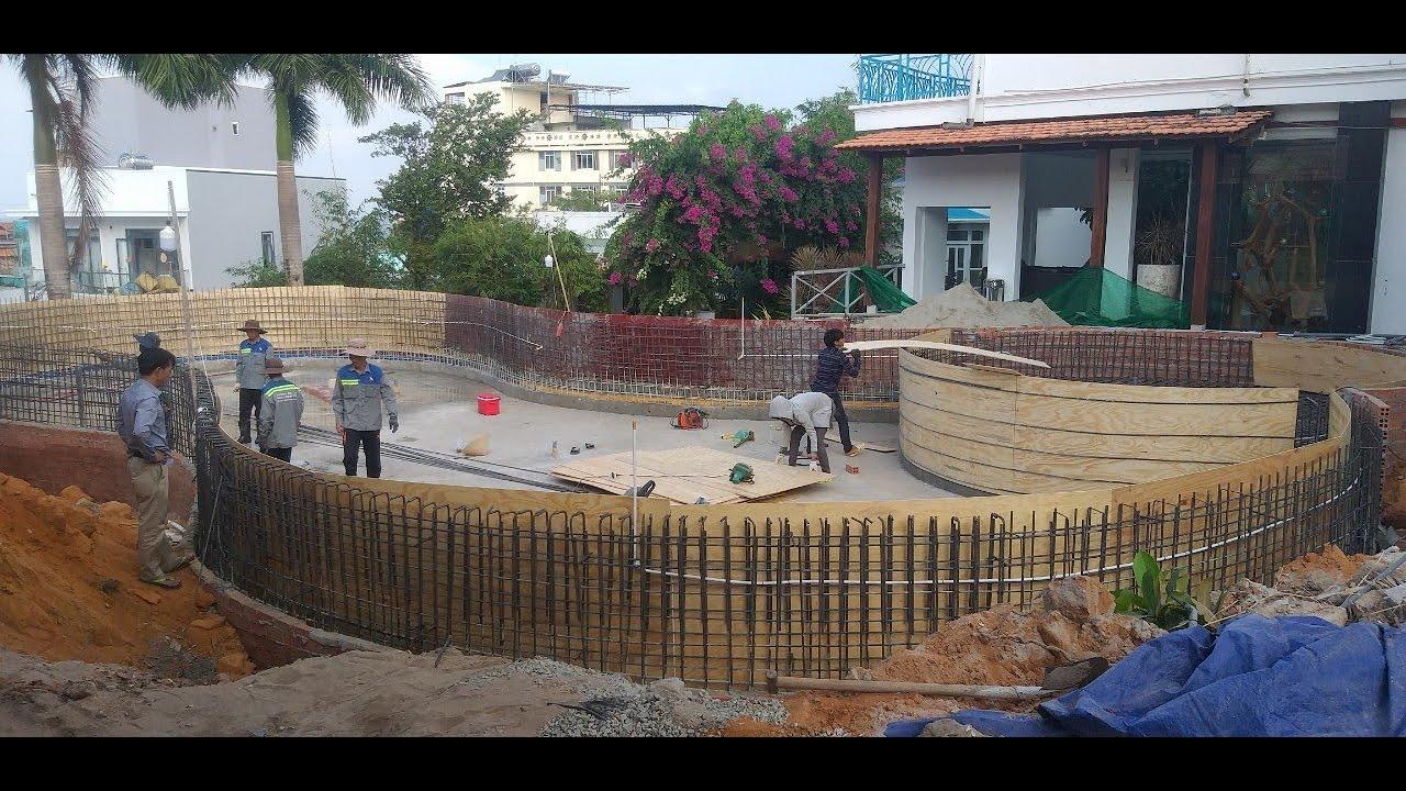 Thi công hồ bơi tại Phú Quốc   Xây dựng bể bơi vô cực   Nvcons