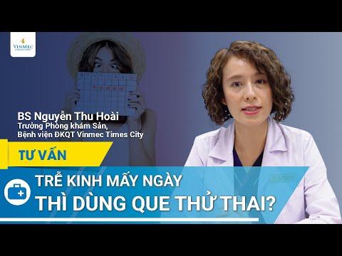 Trễ kinh mấy ngày nên dùng que thử thai   BS Nguyễn Thu Hoài, BV Vinmec Times City (Hà Nội)