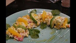 Салат крабовый с авокадо и апельсином: рецепт от шеф-повара Антона Прокофьева для Foodman.club