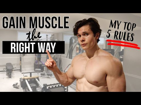 My Top 5 RULES to Build Muscle | Bulk and Gain Muscle the Right Way