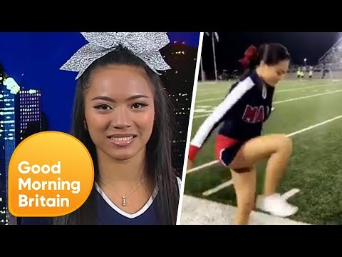 The Cheerleader Behind 'The Invisible-Box Challenge' | Good Morning Britain