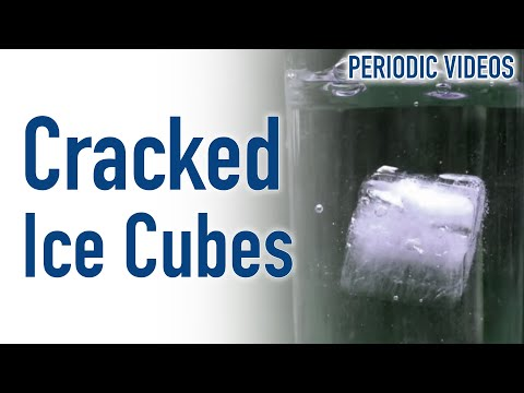 Why do ice cubes crack in drinks? (SLOW MOTION)