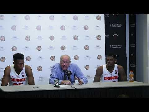 Jim Boeheim postgame news conference after Syracuse basketball vs Kansas (2017)