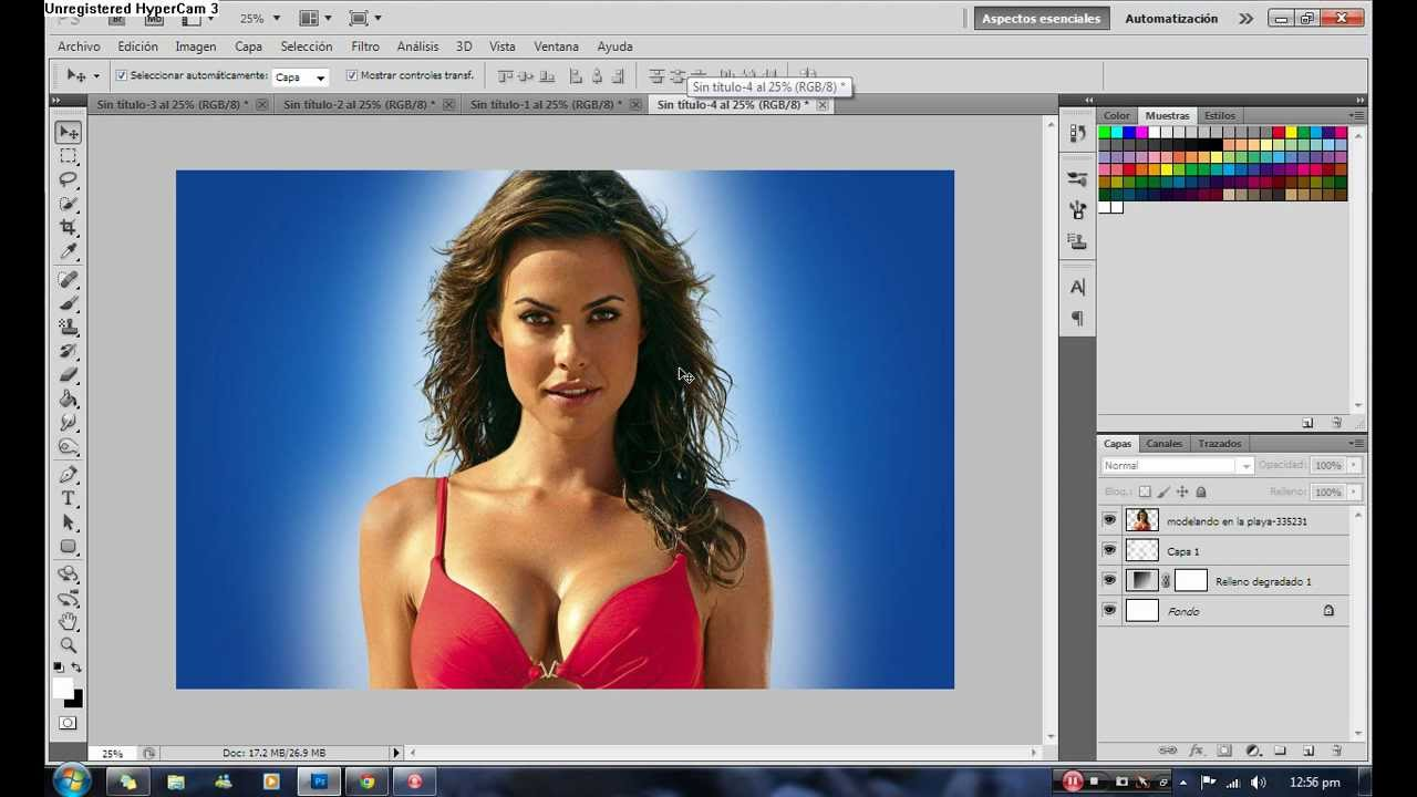 Como recortar una foto en photoshop cs5