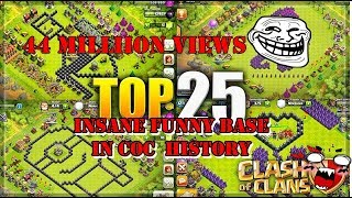 CLASH OF CLANS FUNNY BASE | TOP 25 COC BASE | CATCH THEM ALL