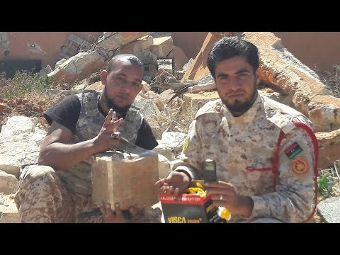 Libya Military Engineers defuse an RCIED - 18 March 2016
