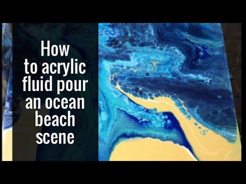 How to fluid pour an ocean scene - Luna Creations