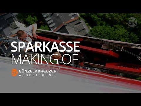 GÜNZEL & KREUZER Werbetechnik - Sparkasse (Making of)