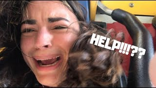 WE GOT STUCK UPSIDE DOWN AT SIX FLAGS!!! *LIVE FOOTAGE*