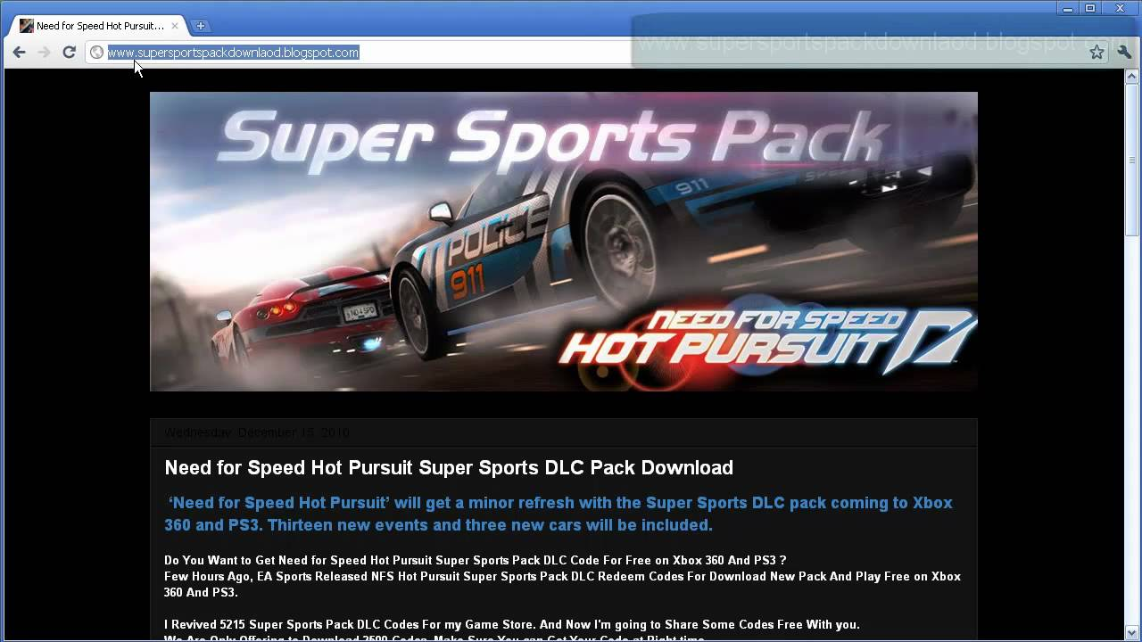 Need for speed hot pursuit 2010 download free full link staffaholic.
