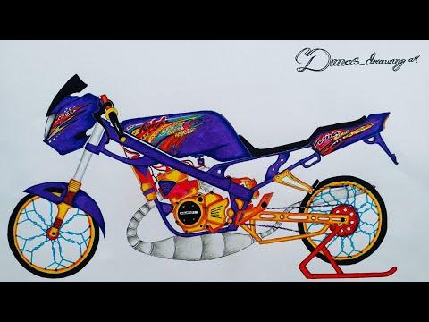 Menggambar Seketsa Ninja R Barong Modif Kontes Youtube