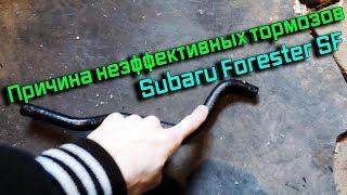 Subaru Forester SF bo'yicha kambag'al tormoz muammo hal