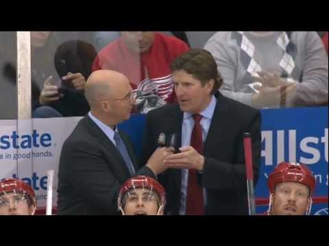 Mike Babcock Drops Science and Tries to educate Pierre Mcguire on the importance of being Heavy