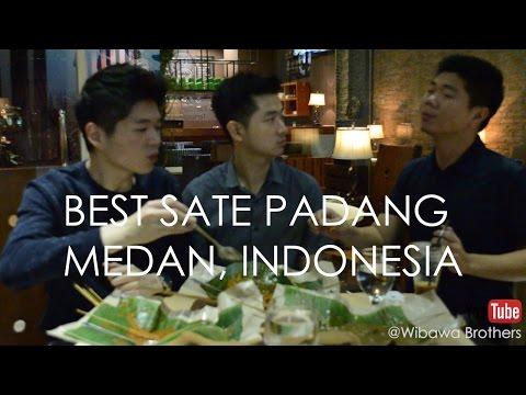 VLOG 02 Best Sate Padang - Street Food Review Medan, Indonesia