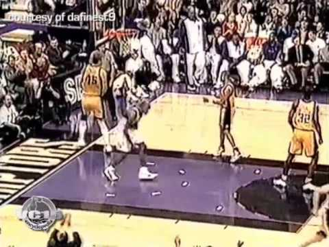 VC nice alley oop vs Pacers 1999 season