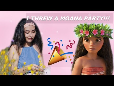 IM THROWING A MOANA PARTY ♡ crystal marie
