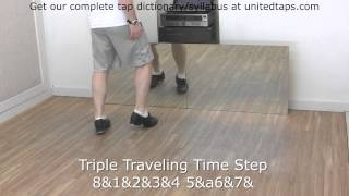 Triple Traveling Time Step Tap Dance Move Shown by Rod Howell