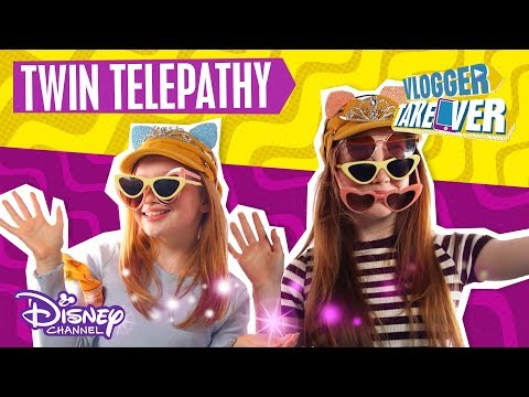 Ruby Rose UK  Twin Telepathy Challenge With Sister 👧 Disney Channel UK