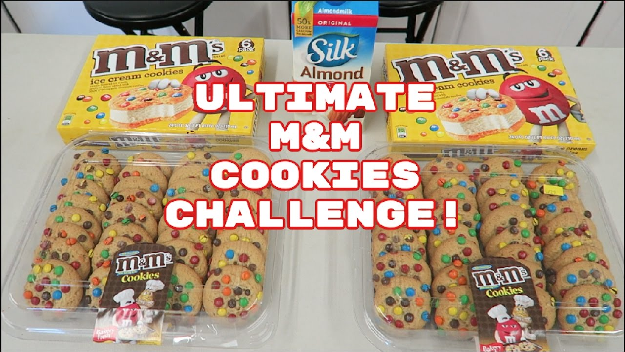 Ultimate M M Cookies Challenge 5k Calories Ice Cream Cookies Mukbang Youtube