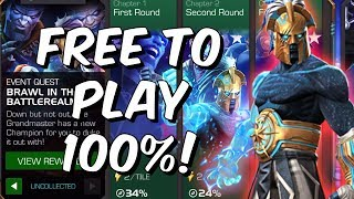 Free To Play Uncollected Brawl In The Battlerealm Completion! - Marvel Contest Of Champions