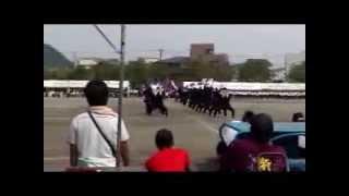 加治木高校体育祭 紫組