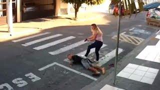 Мама-полицейский атаковала бандита Обзор событий Неудавшееся ограбление молодых мам возле школы