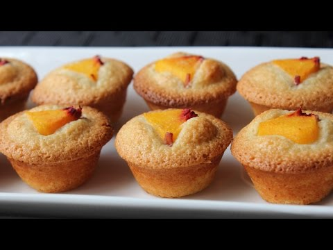 Peach Financier Recipe - How to Make Peach Almond Cakes