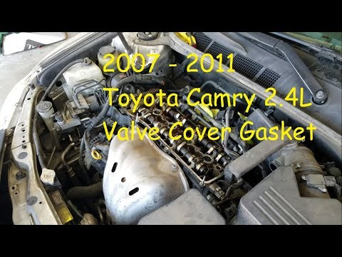 2007 - 2011 Toyota Camry 2.4L Valve Cover Gasket Replacement DIY