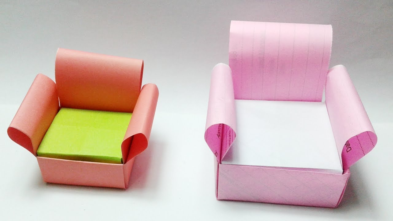 How To Make Paper Sofa Origami Sofa Set Easy Origami Paper Craft