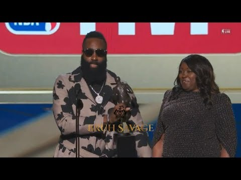 James Harden Gets Emotional During His MVP Speech:Never Stop Chasing Greatness!