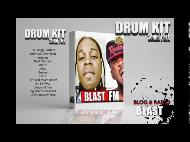 DJ Blingg | BlastFM Drum Kit Sound Pack  Free Download