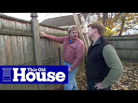 How to Replace a Rotted Fence Post | This Old House