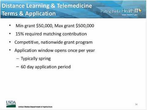 USDA Rural Development,  Health IT, and Telehealth Program Funding Overview