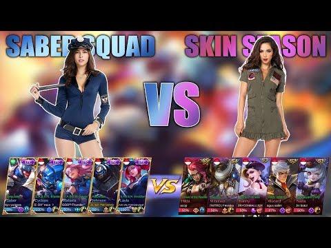 SKIN SQUAD SABER VS SKIN SEASON // KEREN PARAH..!!