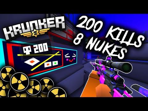200 KILLS Krunker.io WORLD RECORD - NUKE Gameplay (INSANE)