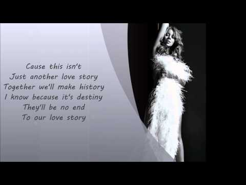 Mariah Carey- Love Story Lyrics On Screen