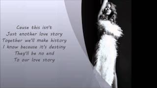 Mariah Carey- Love Story Lyrics On Screen