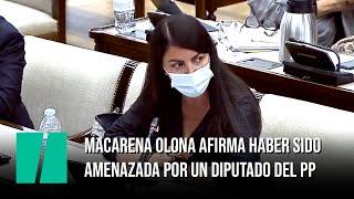 Macarena Olona (Vox) se va de una comisión y denuncia haber sido amenazada por un diputado del PP