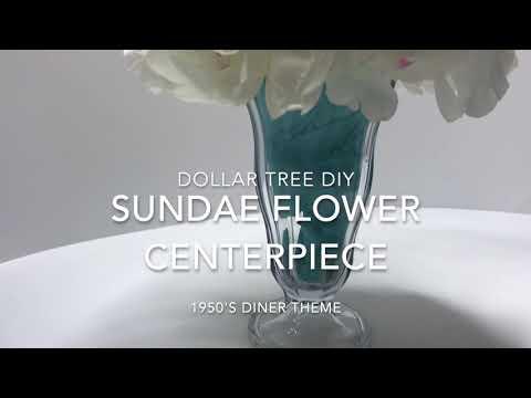 Dollar Tree DIY | Sundae Flower Centerpiece | Ava Butterfly
