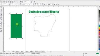 CorelDraw - Map of Nigeria using CorelDraw