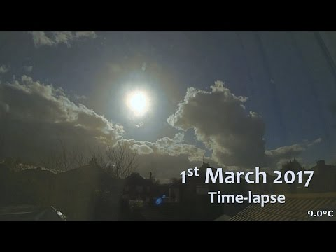 1 March 2017 Time-lapse