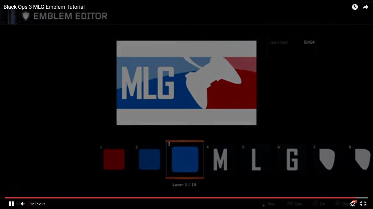 How to do MLG emblem on Black ops 2 - YouTube